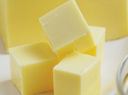 Blocks of butter