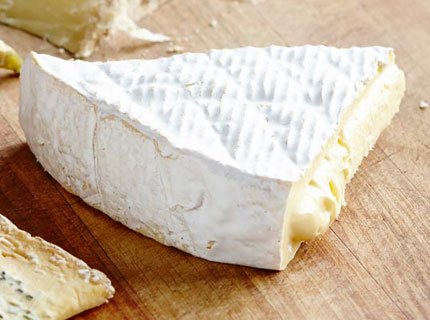 Wedge of soft cheese